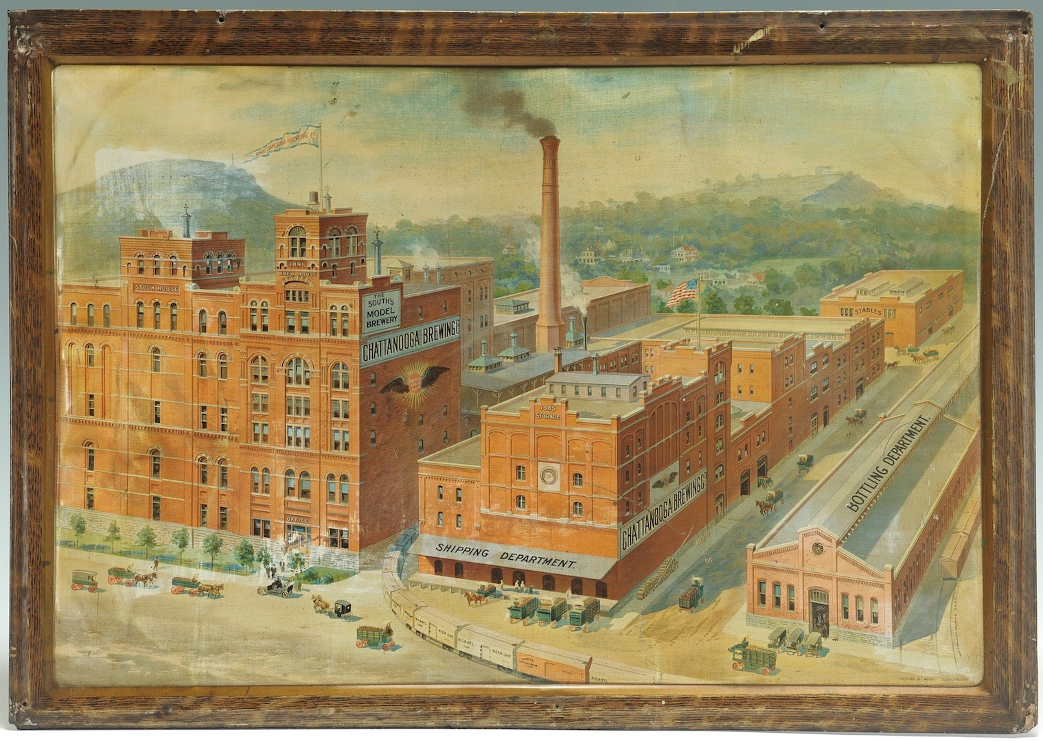 Lot __ Inv. #4276: Chattanooga Brewing Company Ad Sign on Tin
