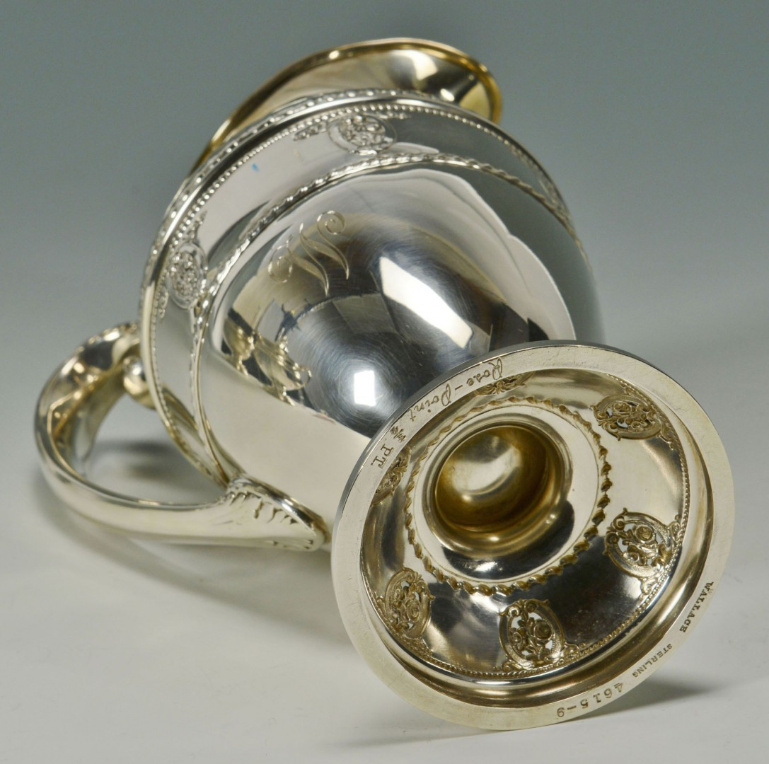 """Lot 102: Wallace """"Rose Point"""" Sterling Coffee, Tea Service"""