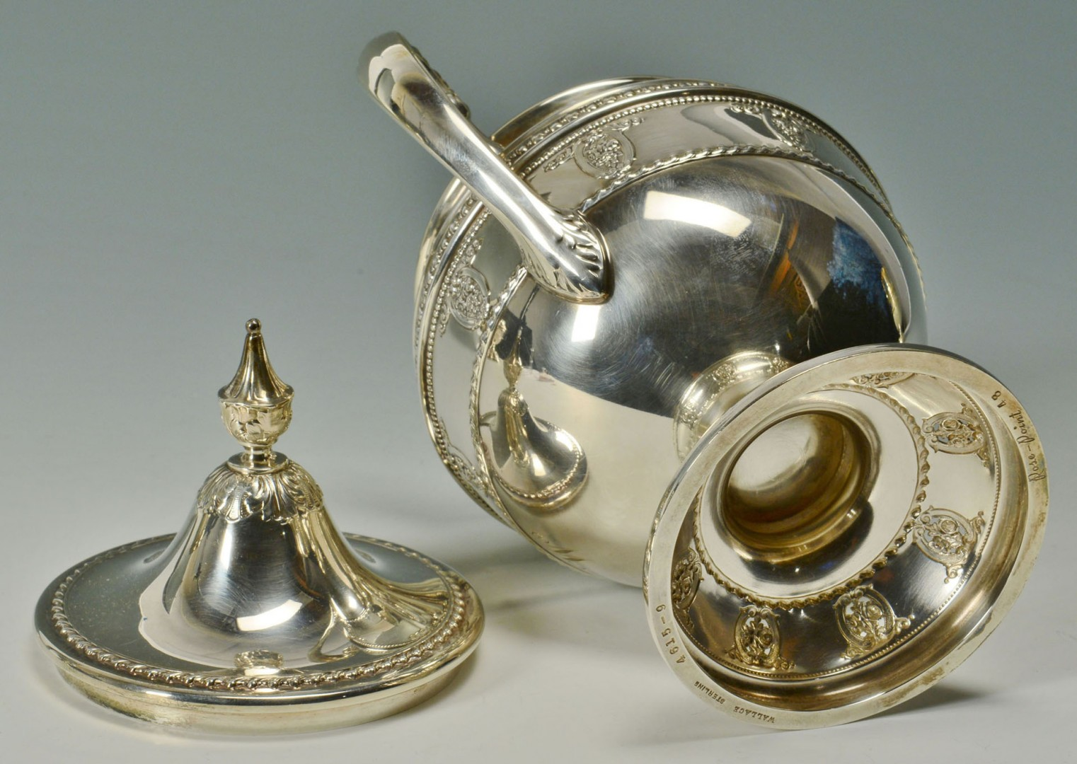 "Wallace ""Rose Point"" Sterling Coffee, Tea Service"