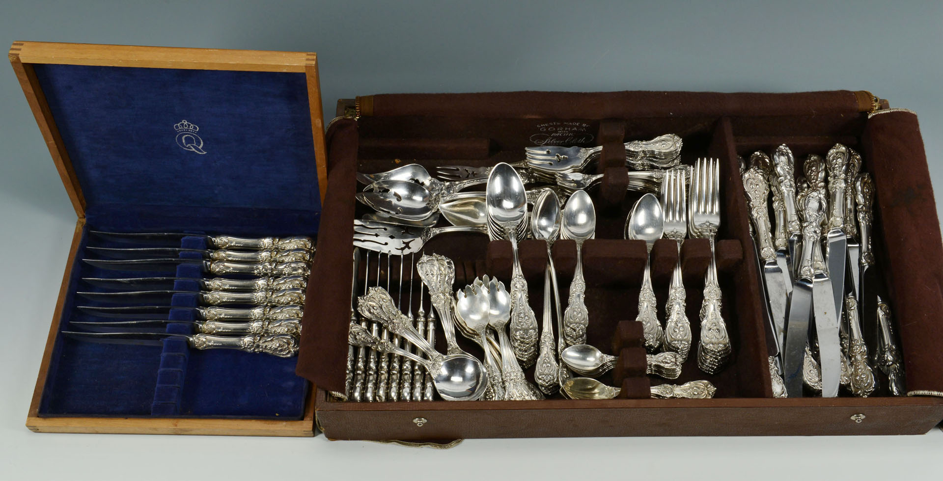 Lot 105: 152 Pcs. Reed & Barton Francis I Sterling Flatware