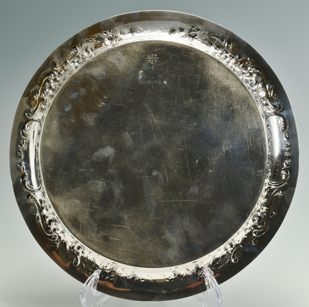 Lot 106: Reed & Barton sterling silver round platter