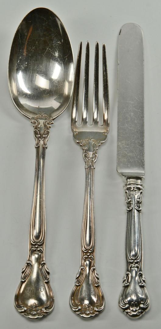 Gorham Chantilly Sterling Silver Flatware, 68 pcs