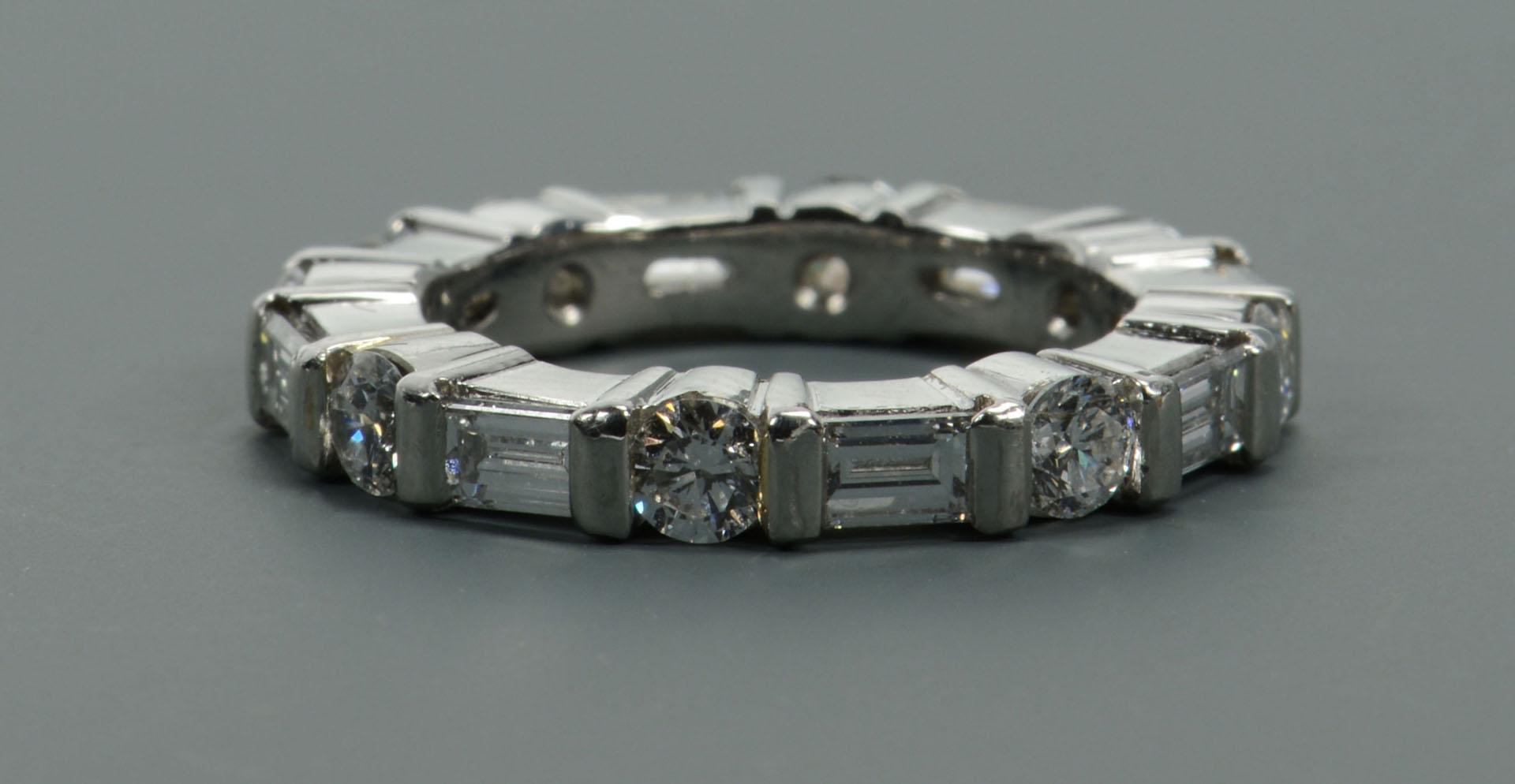 Lot 114: Platinum Diamond Eternity Band