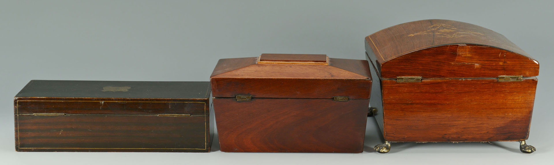 Lot 126: Grouping of 3 Desk Storage Boxes, inlaid