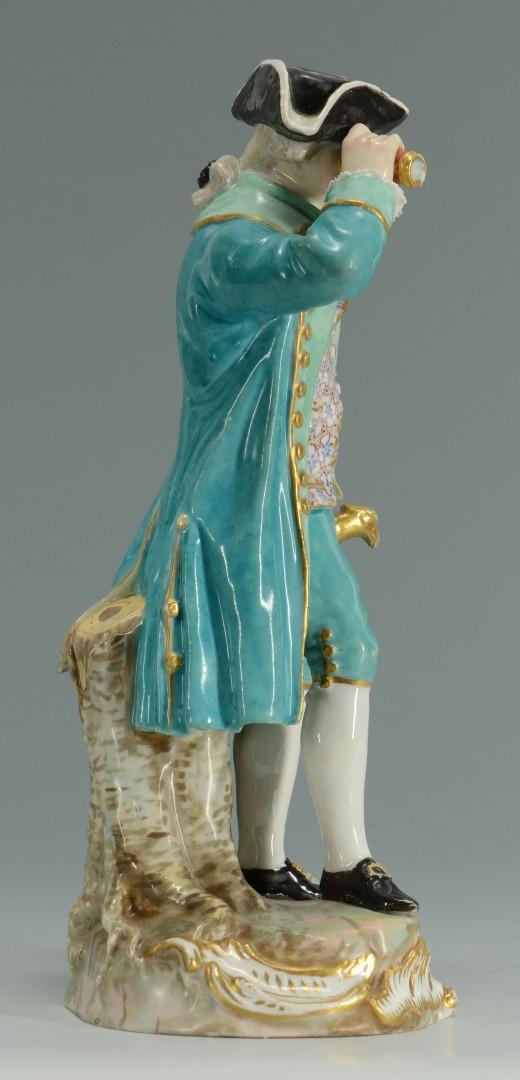 Meissen Porcelain Figure of Captain w/ Spyglass