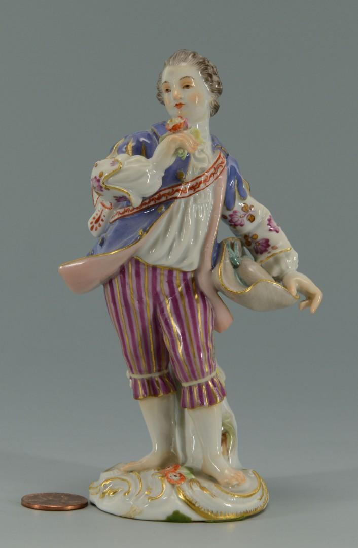 Meissen Porcelain Figure of Man Holding Flower