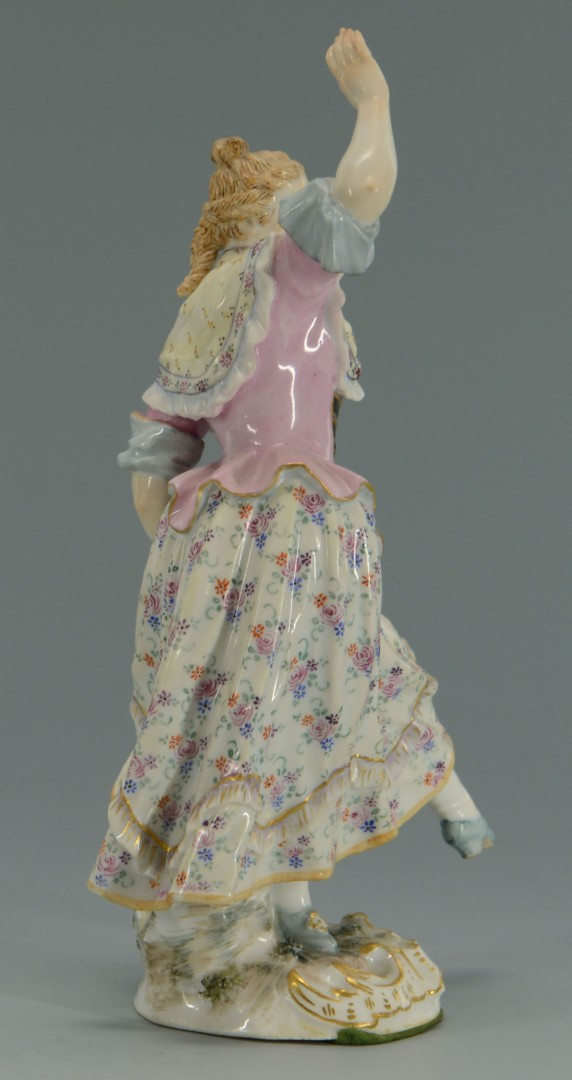 Lot 136: Messien Porcelain Figure of Dancing Lady