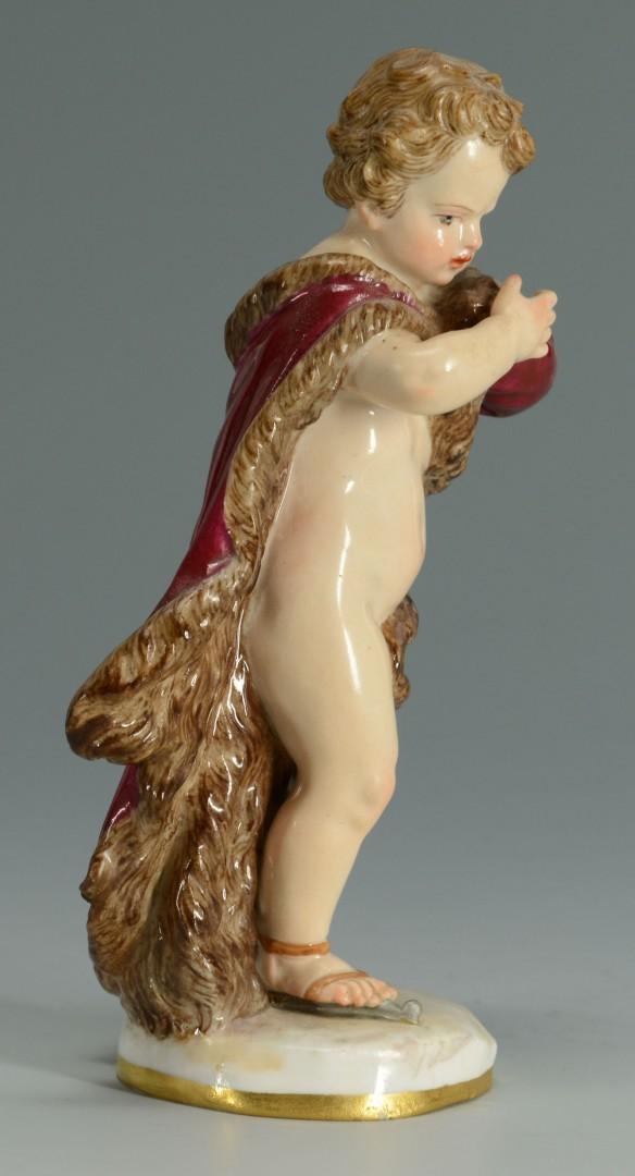 Meissen Porcelain Figure of Cherub in Robe