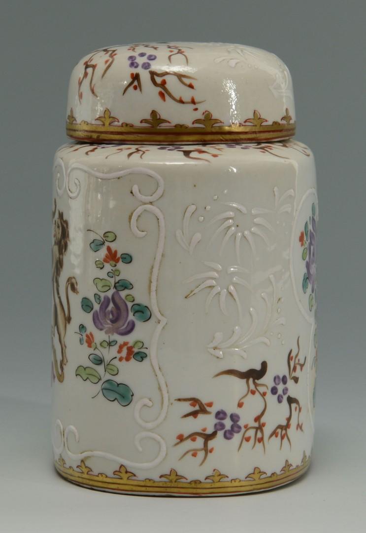 Lot 140: Paris Edme Samson Enameled Porcelain Tea Caddy