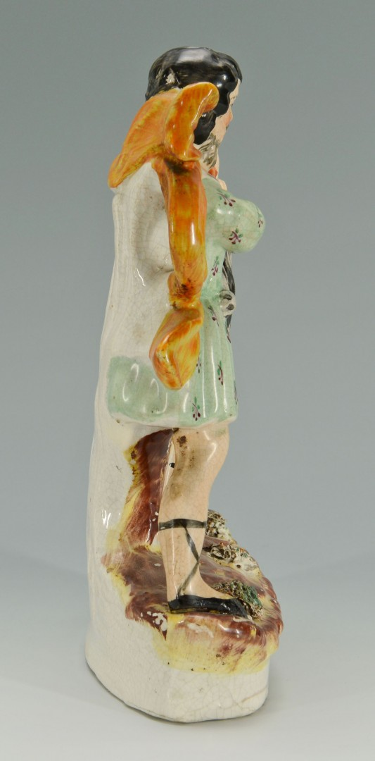 Lot 150: Staffordshire Samson and Lion Figure