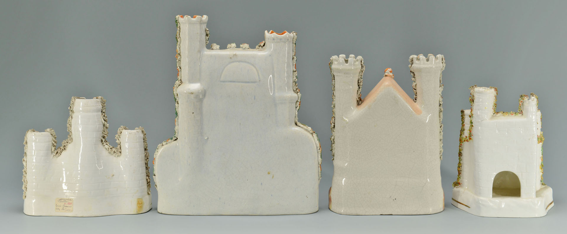 4 Staffordshire Pottery Castle Pastille Burners