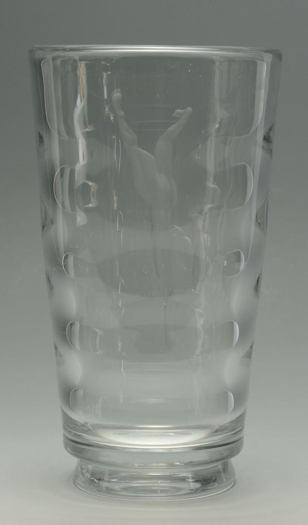 Lot 163: Large Orrefors Pearl Diver Vase by Vicki Lindstran