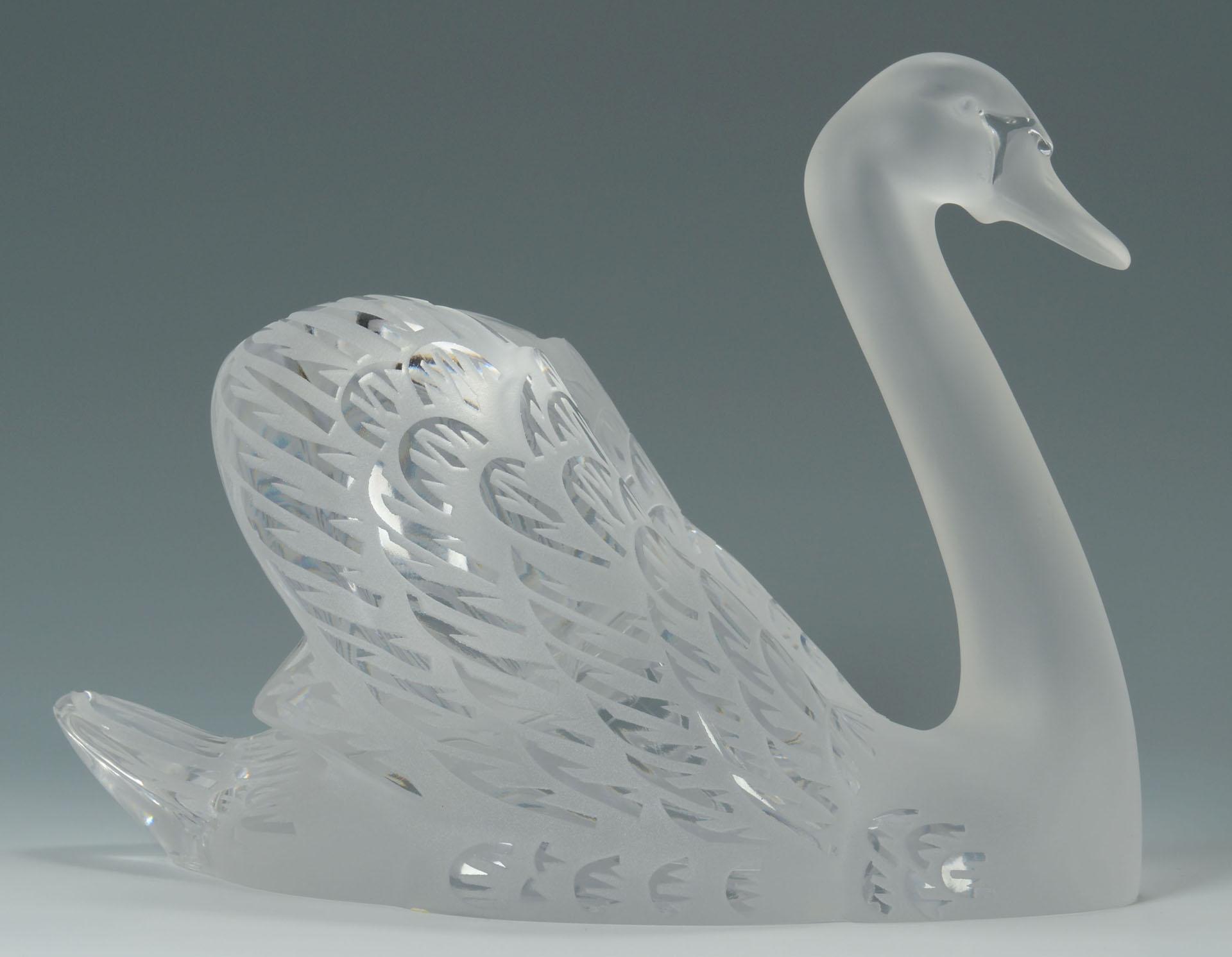 Lot 164 Lalique Crystal Swan