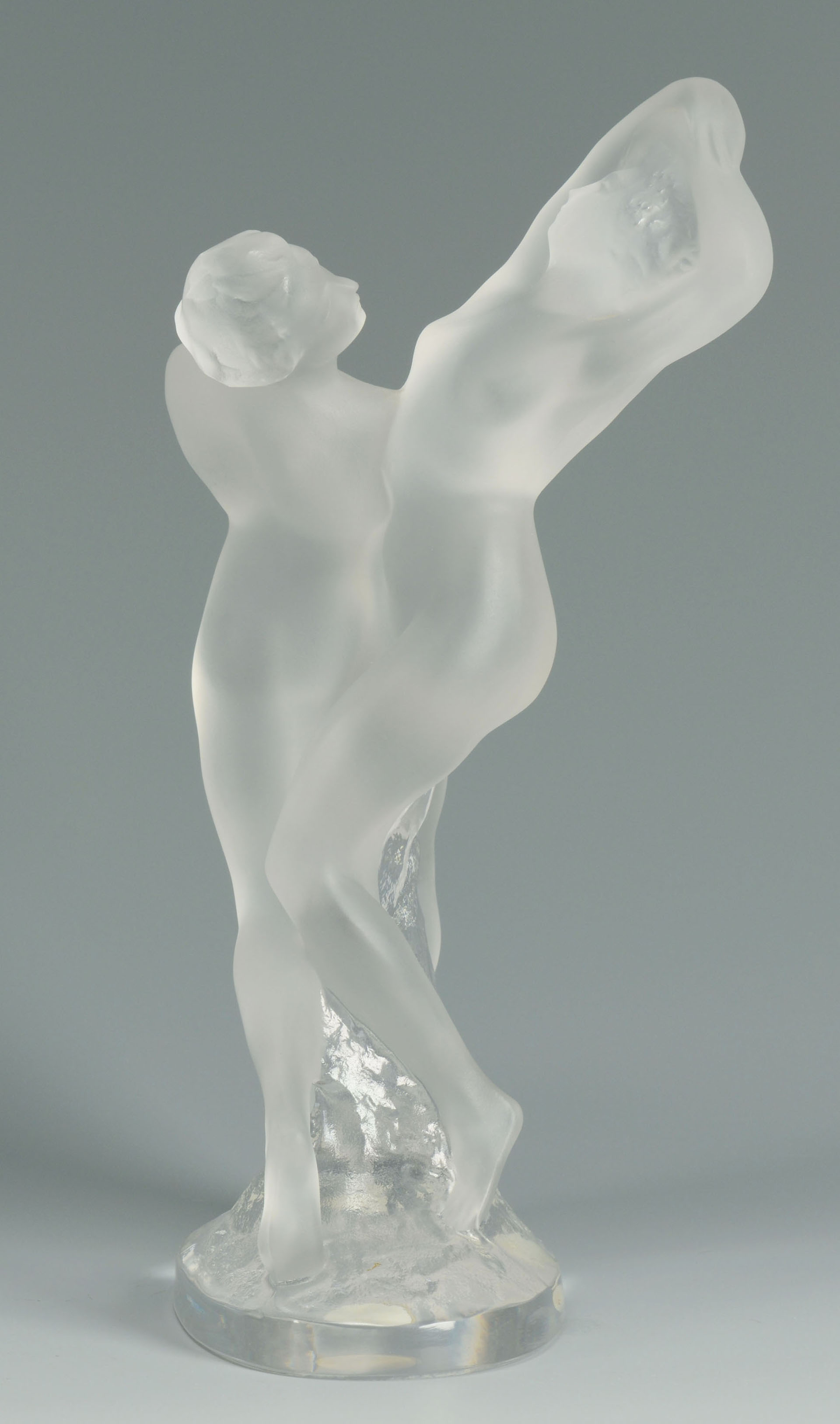 lot 166  lalique crystal figure of two dancers