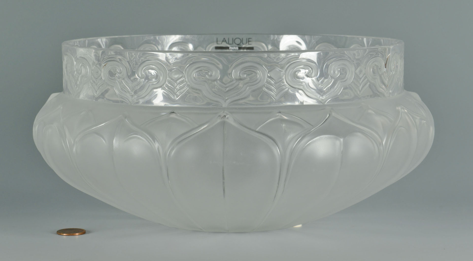 Lalique Molded & Frosted Bowl