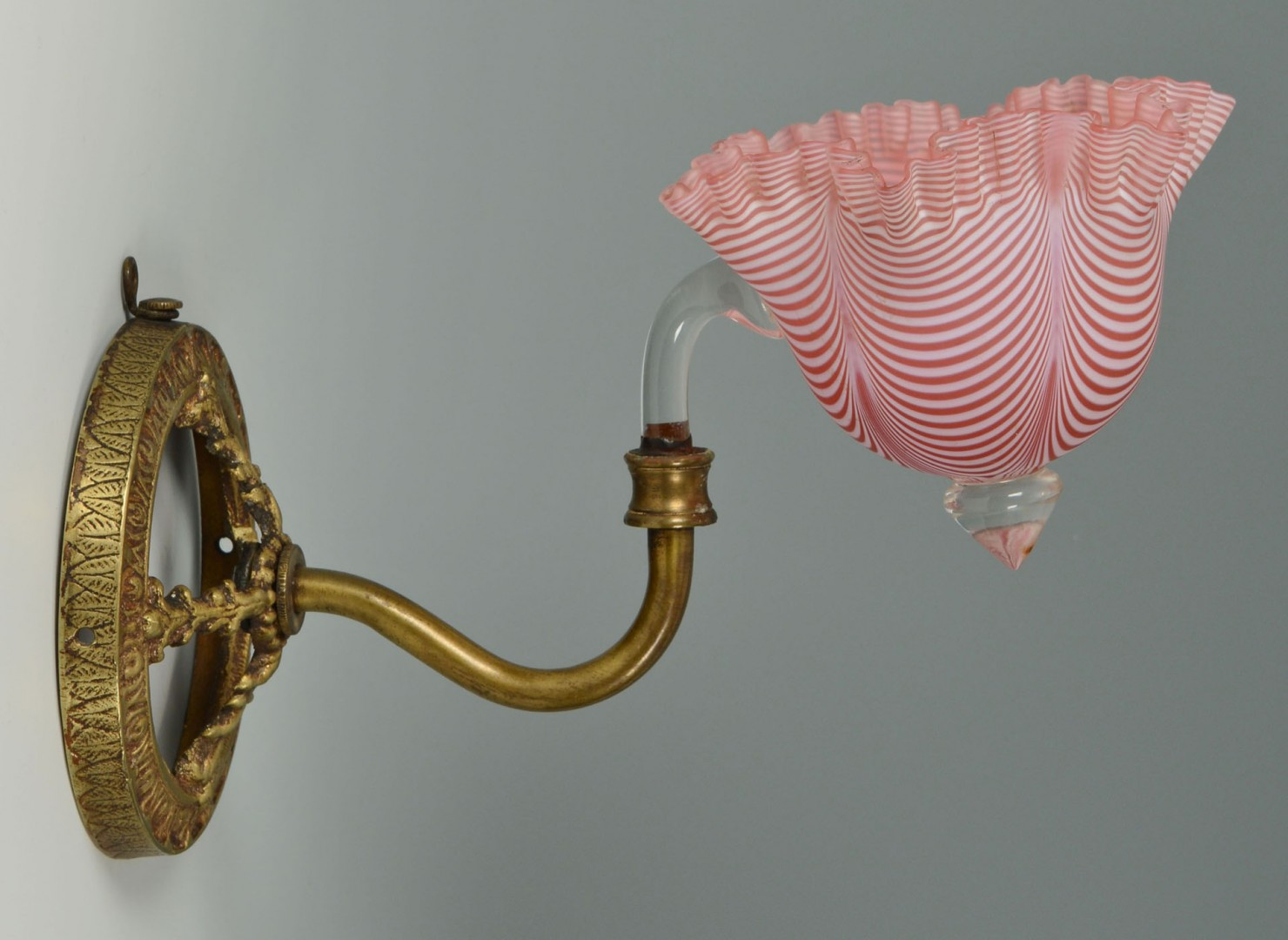Red Glass Wall Sconces : Art Glass Red & White Swirl Wall Sconce