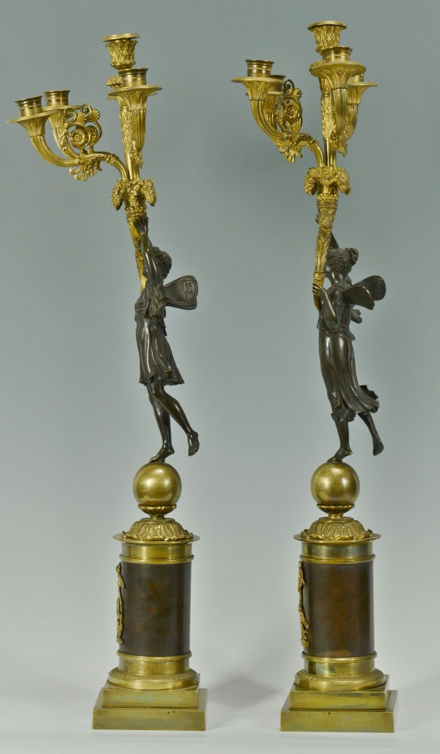 Pair 19th C. French Empire Style Candelabra