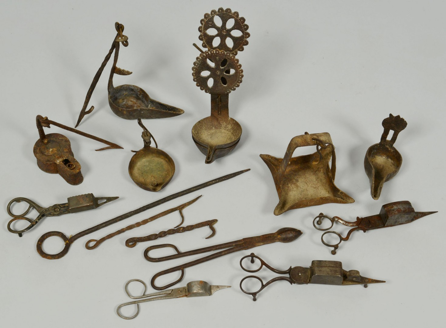 Grouping of Early Iron Lighting Related Items