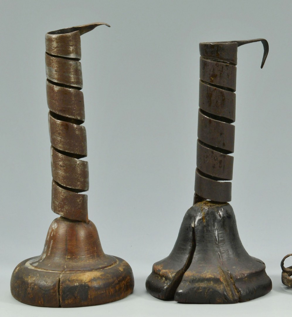 Lot 175: Three 18th century lighting devices