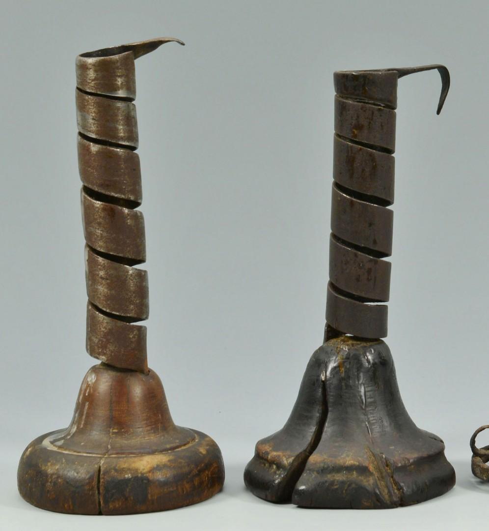 Lot 175: Three 18th century lighting devices