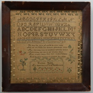 Lot 176: New Baltimore Needlework Sampler, 1836
