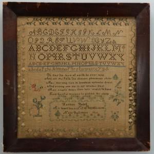 Lot 176: New Baltimore Needlework Sampler, 1836