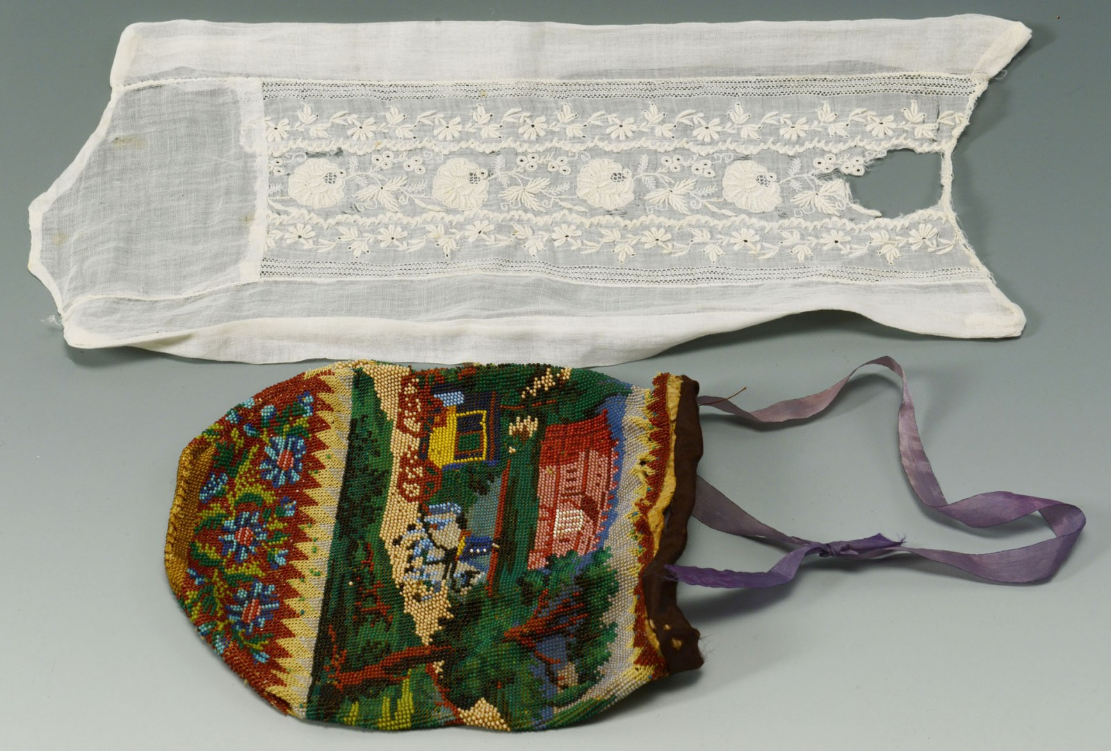 Martha Peck CT Sampler, Purse, Archive