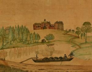 Lot 181: Salem, North Carolina Theorem on Velvet, Circa 182