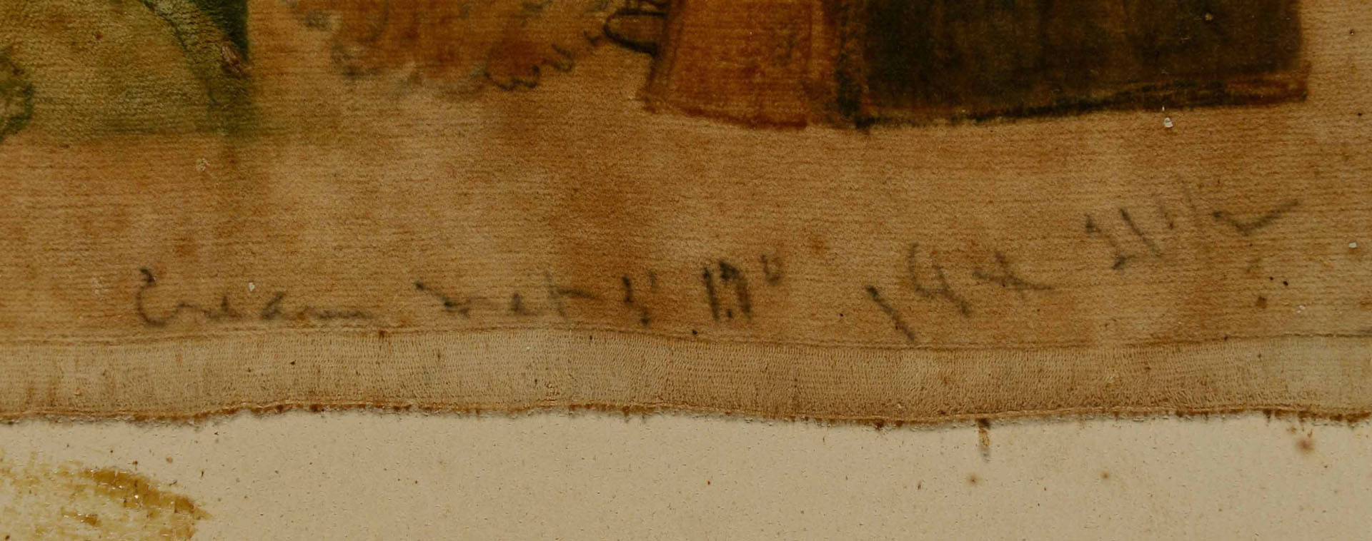 Lot 181: Salem, North Carolina Theorem on Velvet, Circa 182
