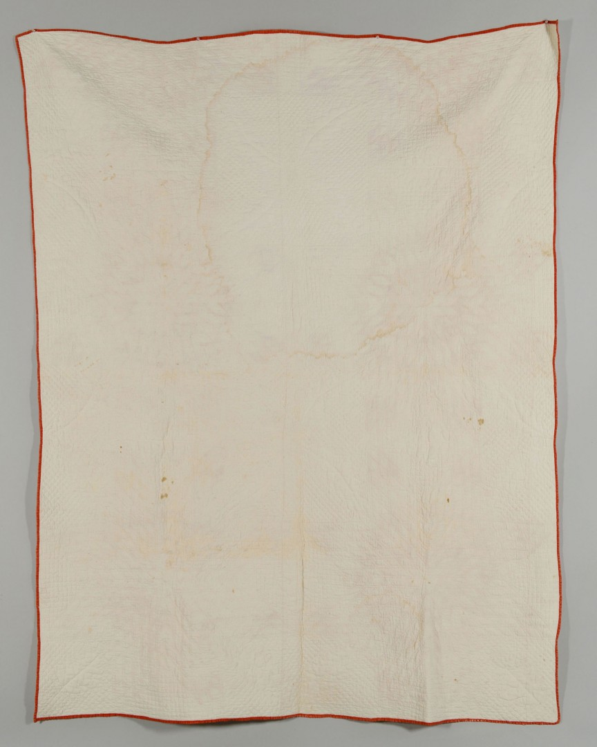 Lot 182: Signed Blount Co., TN Quilt, dated 1880