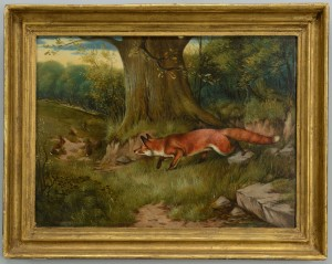 Lot 186: J.A. Wheeler, Fox Hunting Rabbits