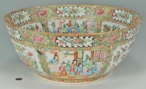 Lot 18: Large Rose Medallion Punch Bowl