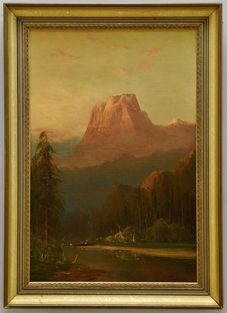Lot 191: Frederick Schafer Oil on Board, El Capitan