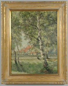 Lot 192: William Clusmann Impressionist Landscape Painting