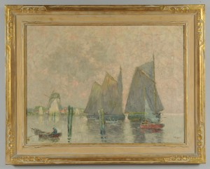 Lot 193: William Clusmann Impressionist Coastal Scene