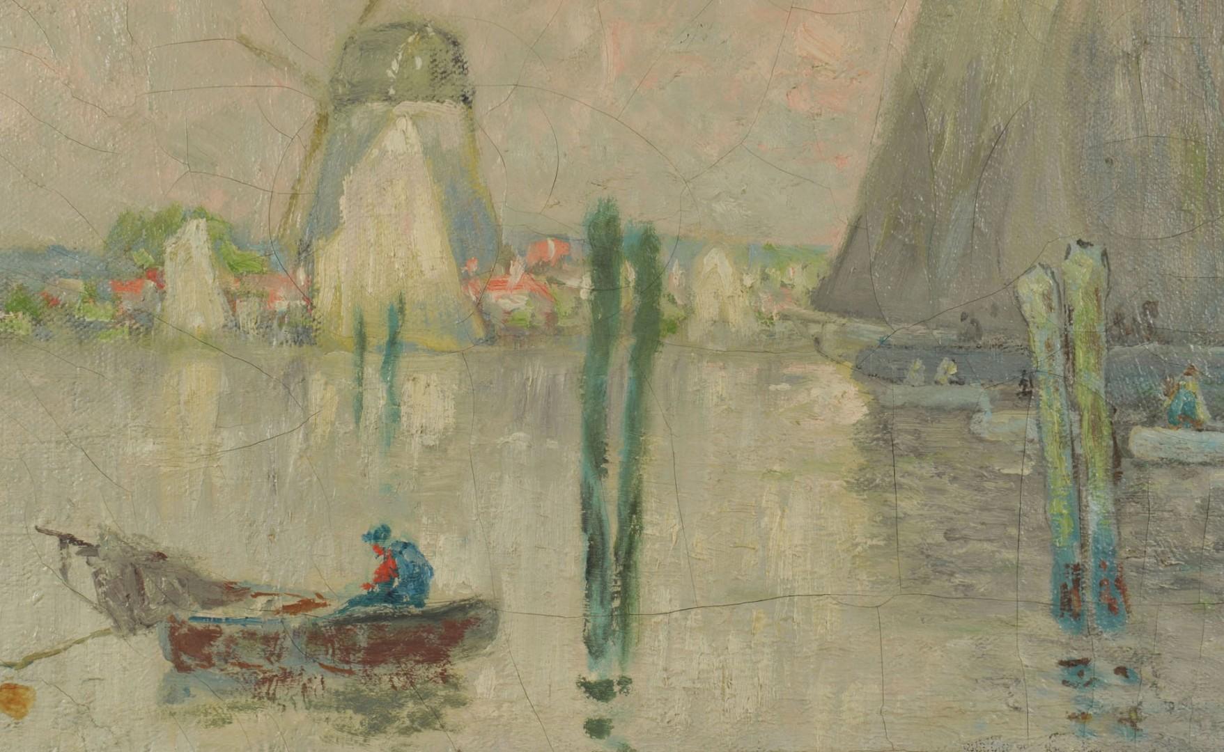 Lot 193: William Clusmann Impressionist Coastal Scene