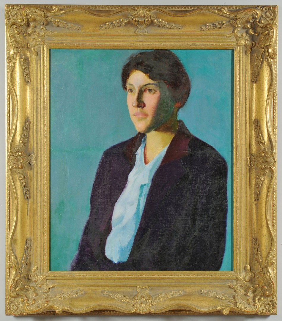 Lot 194: Circle of Charles Hawthorne, o/c portrait of a wom