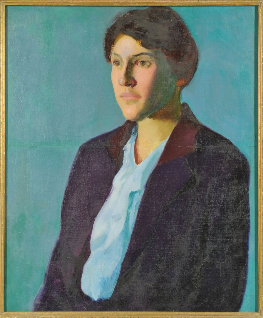 Circle of Charles Hawthorne, o/c portrait of a woman
