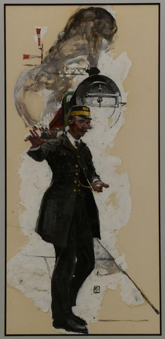 Lot 195: Frank Street Illustration, The Long Distance Train