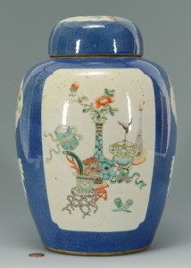 Lot 1: Chinese Porcelain Ginger Jar