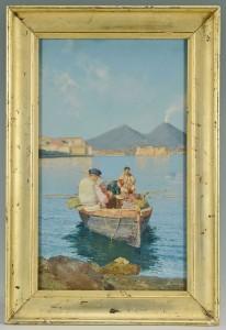 Lot 201: D. Gesario Watercolor, Mt. Vesuvius