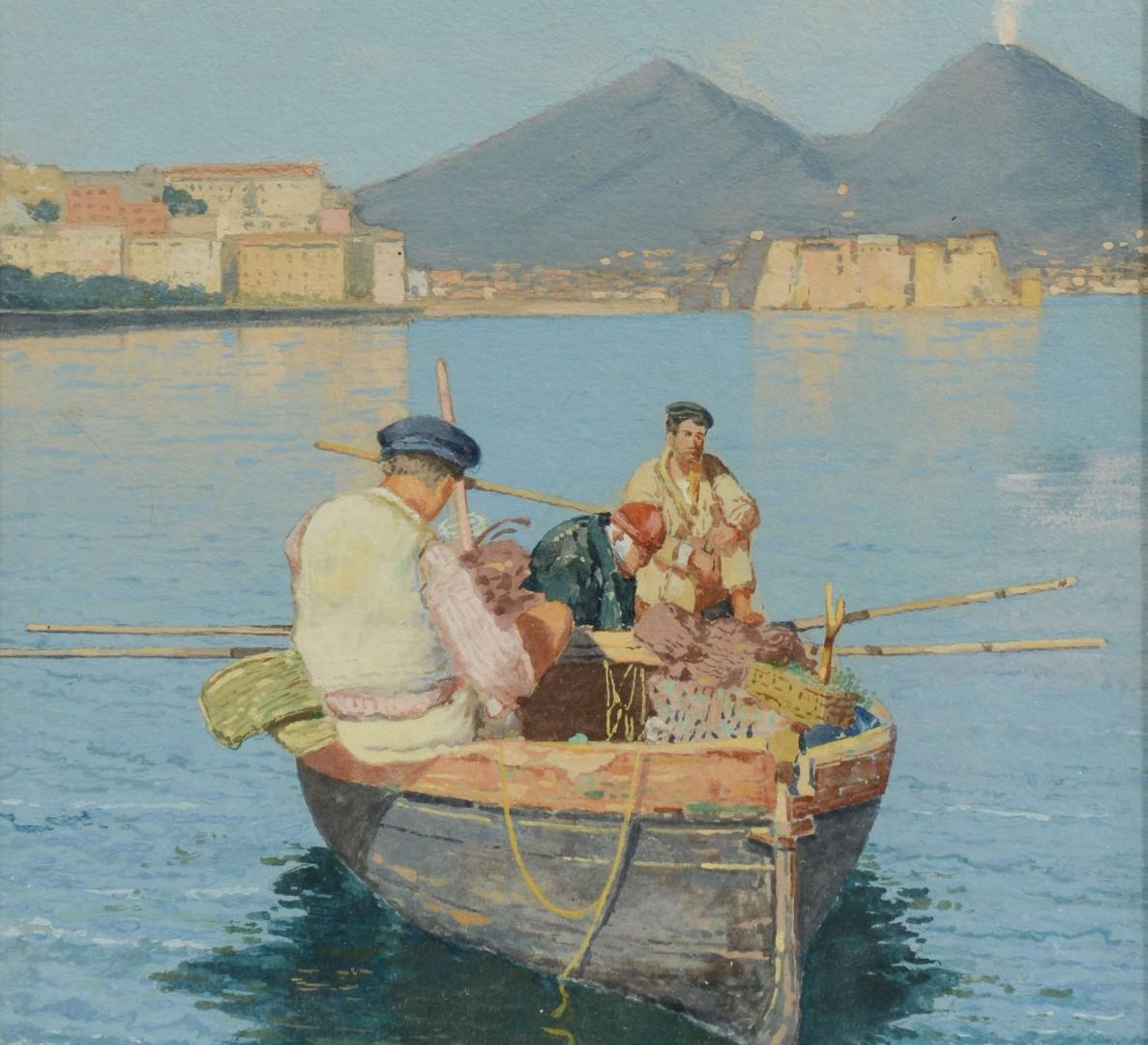 D. Gesario Watercolor, Mt. Vesuvius