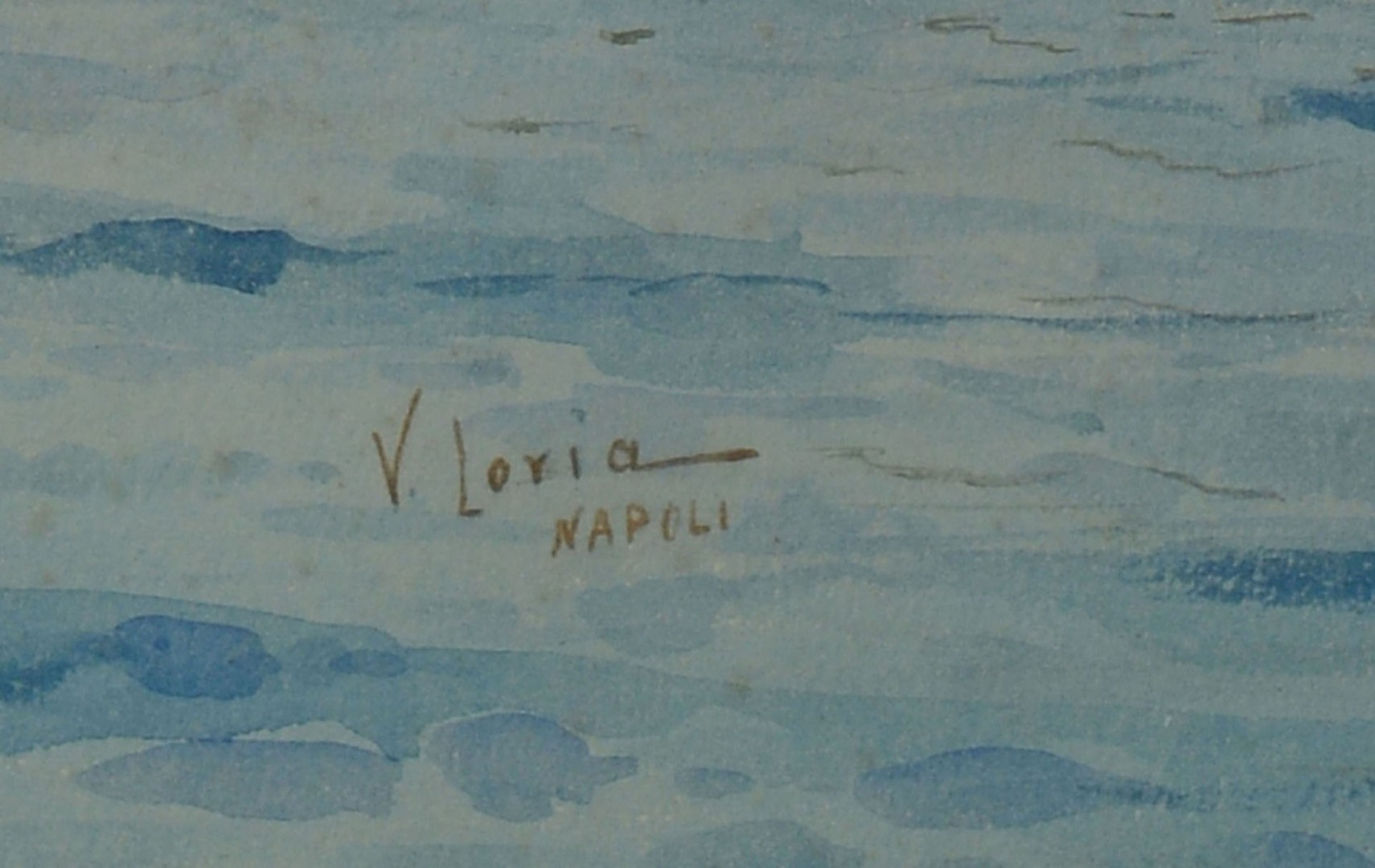 Lot 203: Italian School Vincenzo Loria Watercolor