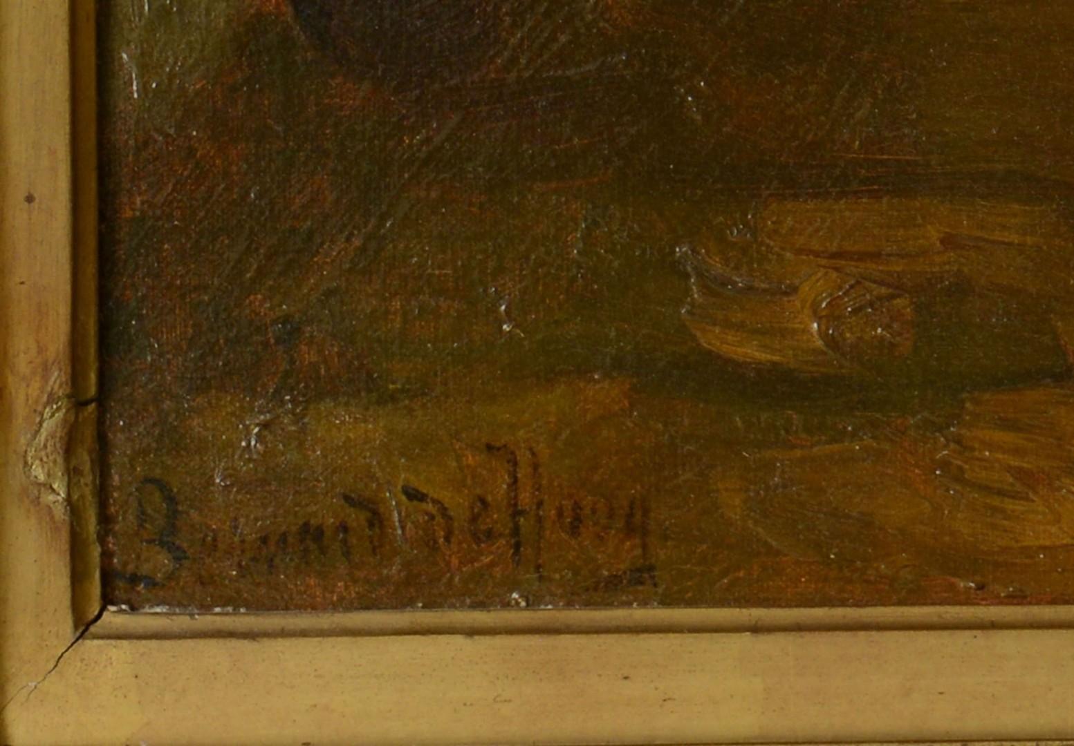 Lot 207: Bernard De Hoog oil on canvas, Mother and Children