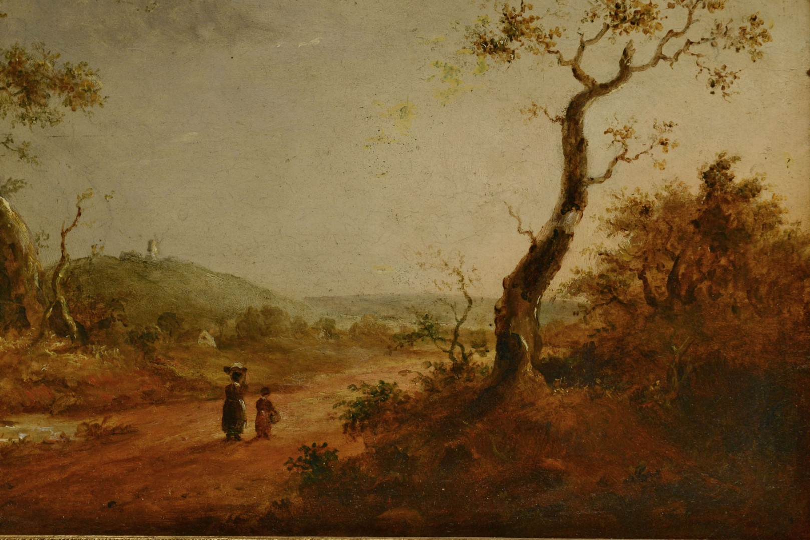 Lot 208: Continental School Oil on Board Landscape