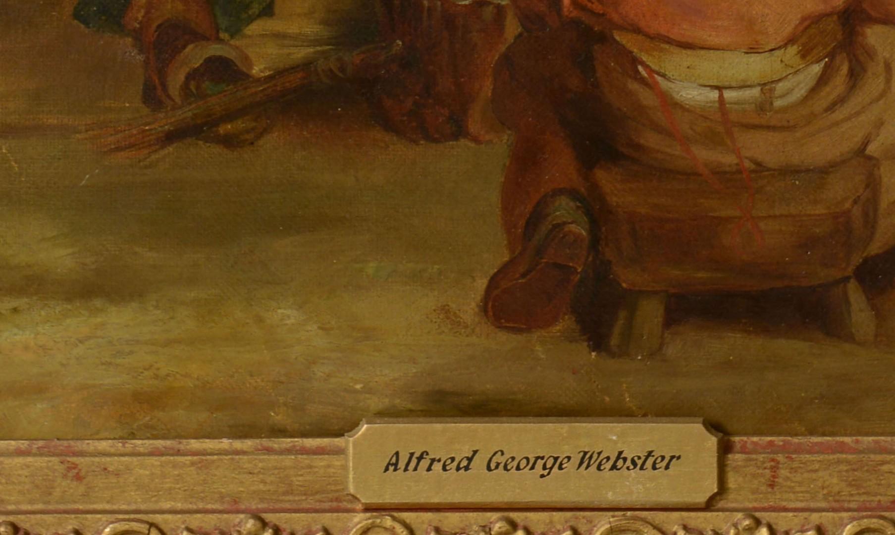 19th C. O/C Genre Scene, attr. Webster