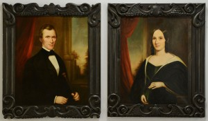 Lot 210: Sara Ward Conley, pair of Tennessee portraits