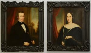 Lot 210: Sara Ward Conley, pair of Tennessee portraits