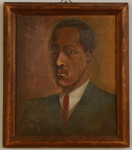 Lot 211: Joseph Delaney Self-Portrait Oil on Canvas