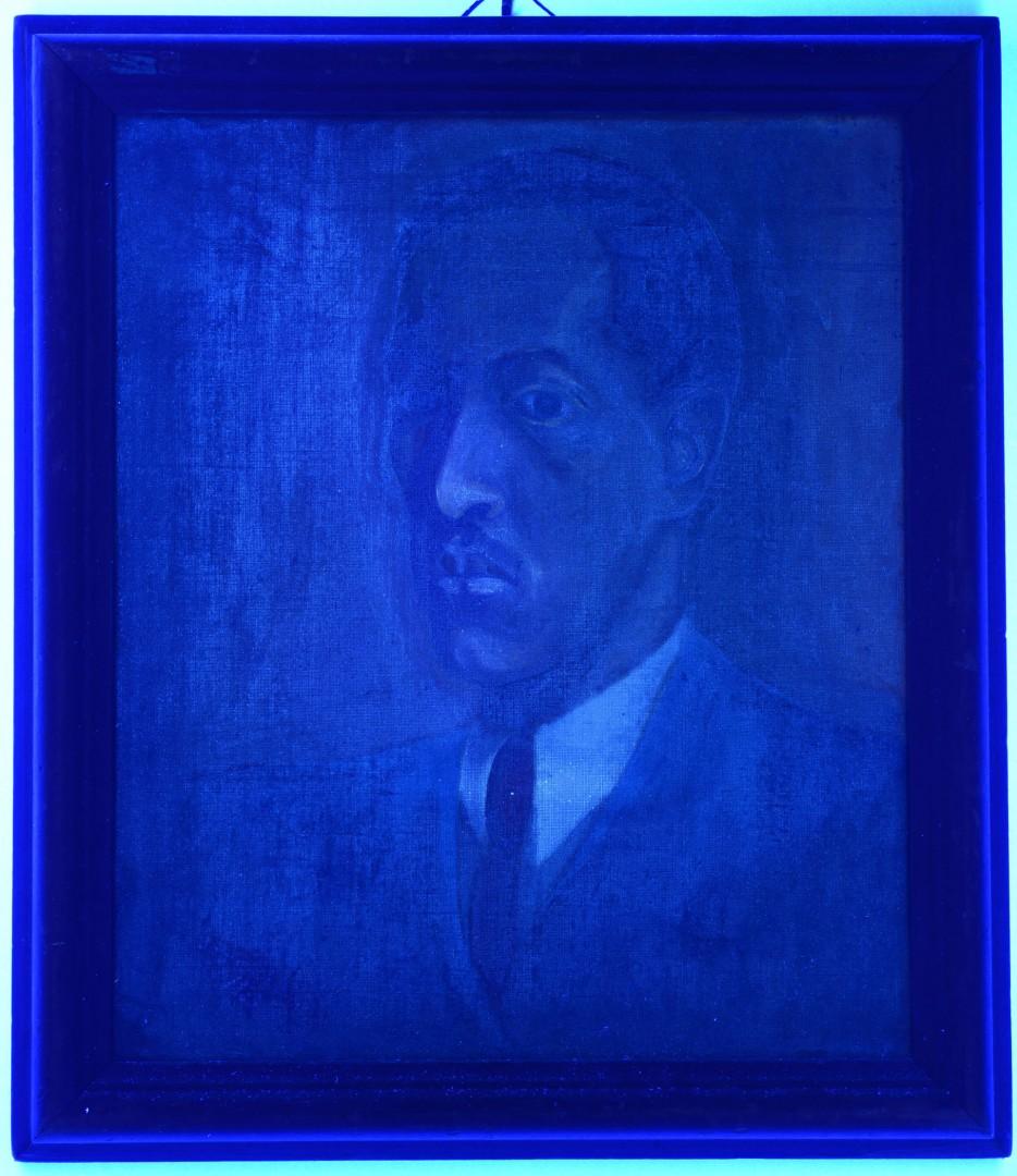 Lot 211: Joseph Delaney Self-Portrait Oil on Canvas
